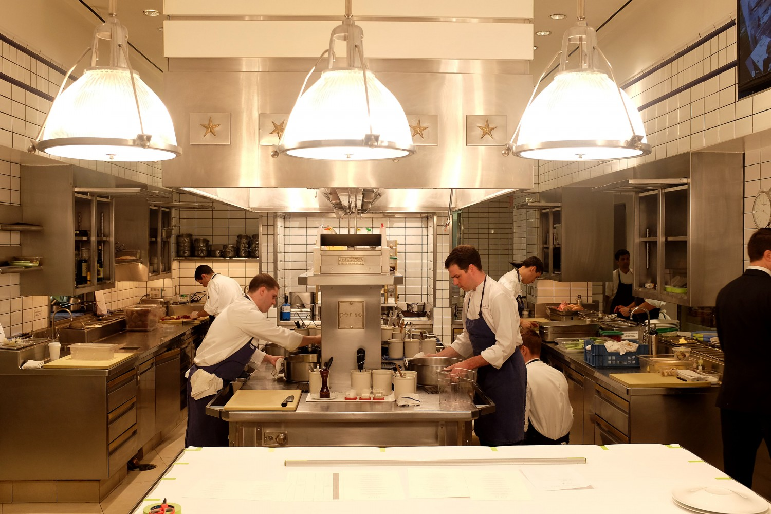 The kitchen at Thomas Keller's Per Se New York
