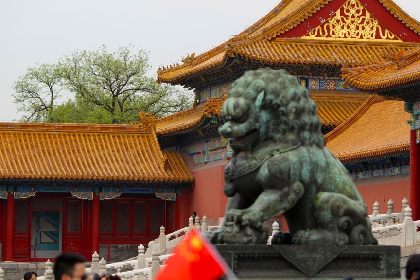 Imperial guardian lion, Forbidden City, Beijing, China