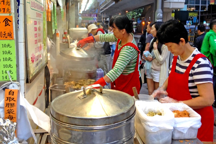 Local food Vendor run 24 hrs, Wan Chai, Hong Kong