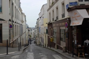 Streets Montmartre Paris France