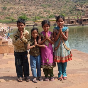 Children of Badami, Karnataka, India