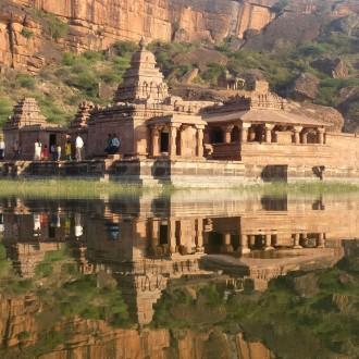 Bhuthanath Temple afternoon reflection Badami, Karnataka