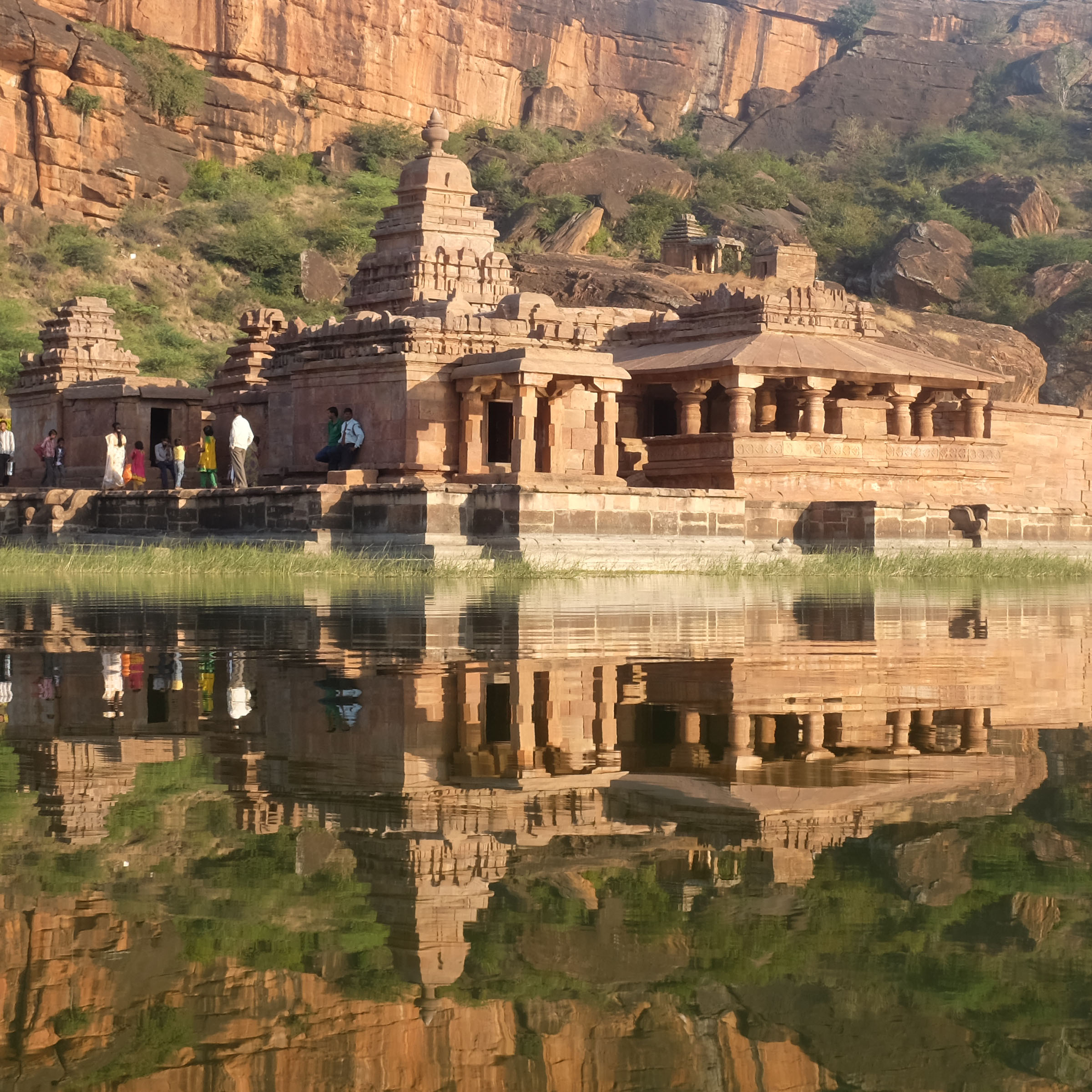 Bhuthanath Temple afternoon reflection Badami, Karnataka