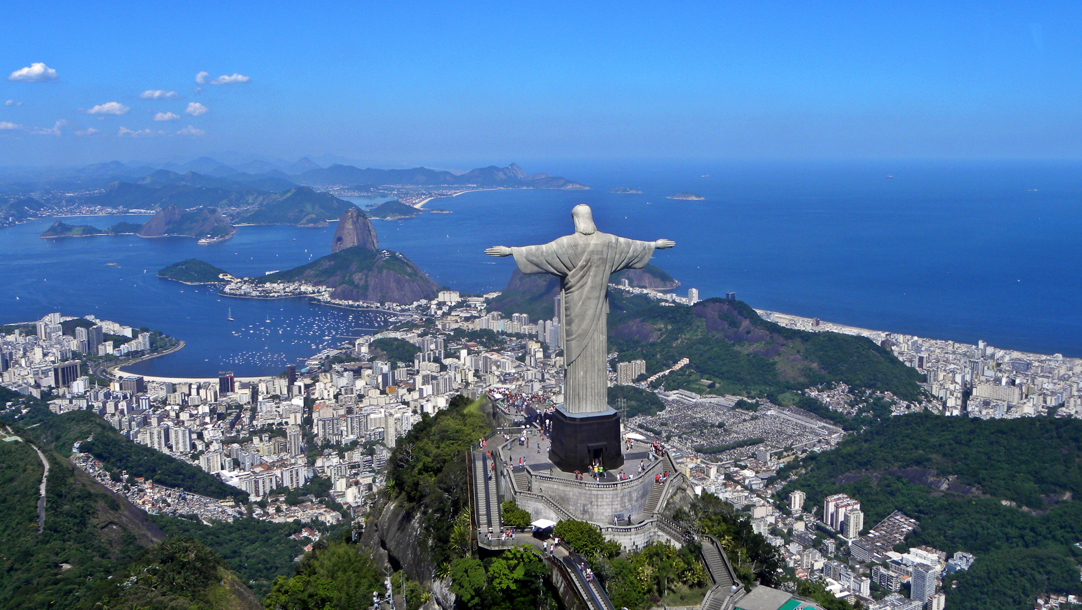 Christ the Redeemer on Corcovado Mountain Brazil