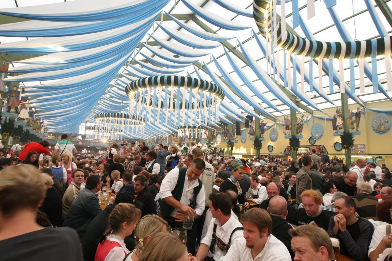 Inside Hofbräuhaus Tent, Oktoberfest, Munich, Germany.