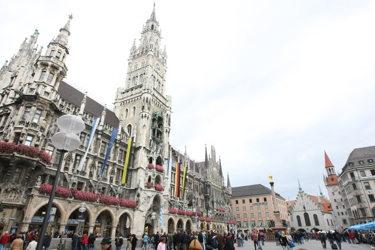 Marienplatz – Mary's Square, Munich, Germany.