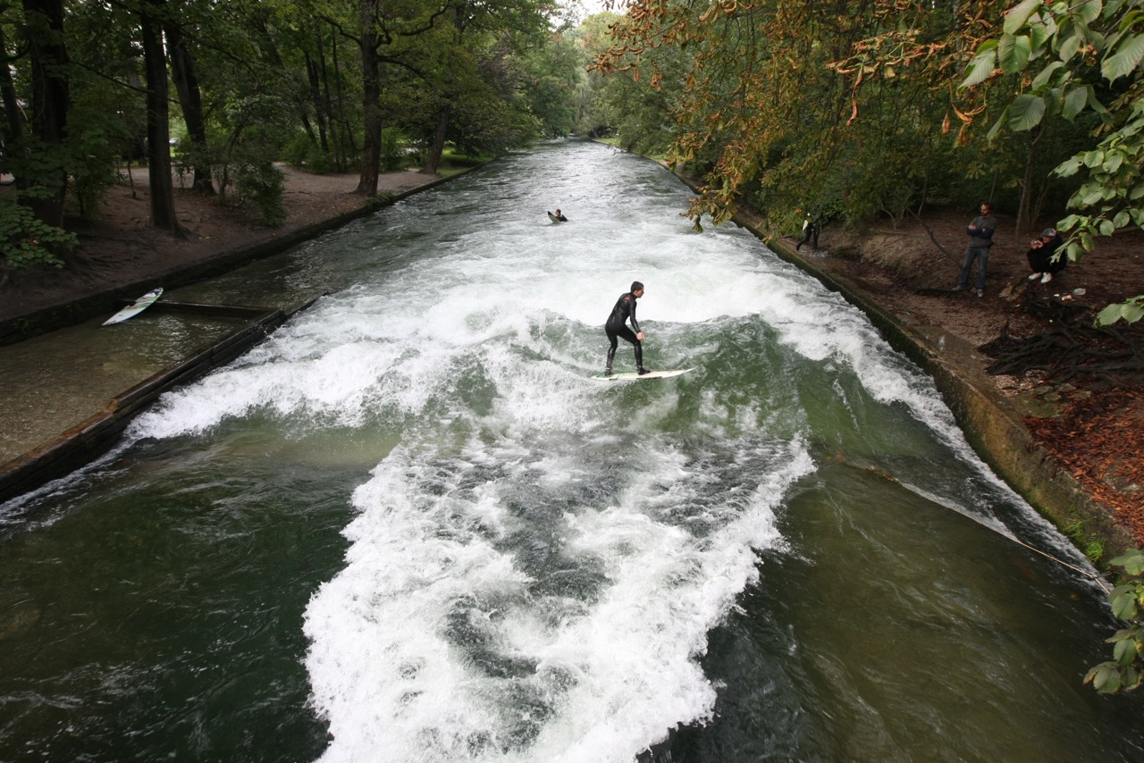 River Surfing, Munich, Germany.