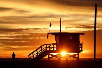 Spectacular Sunsets Venice Life Guard Tower