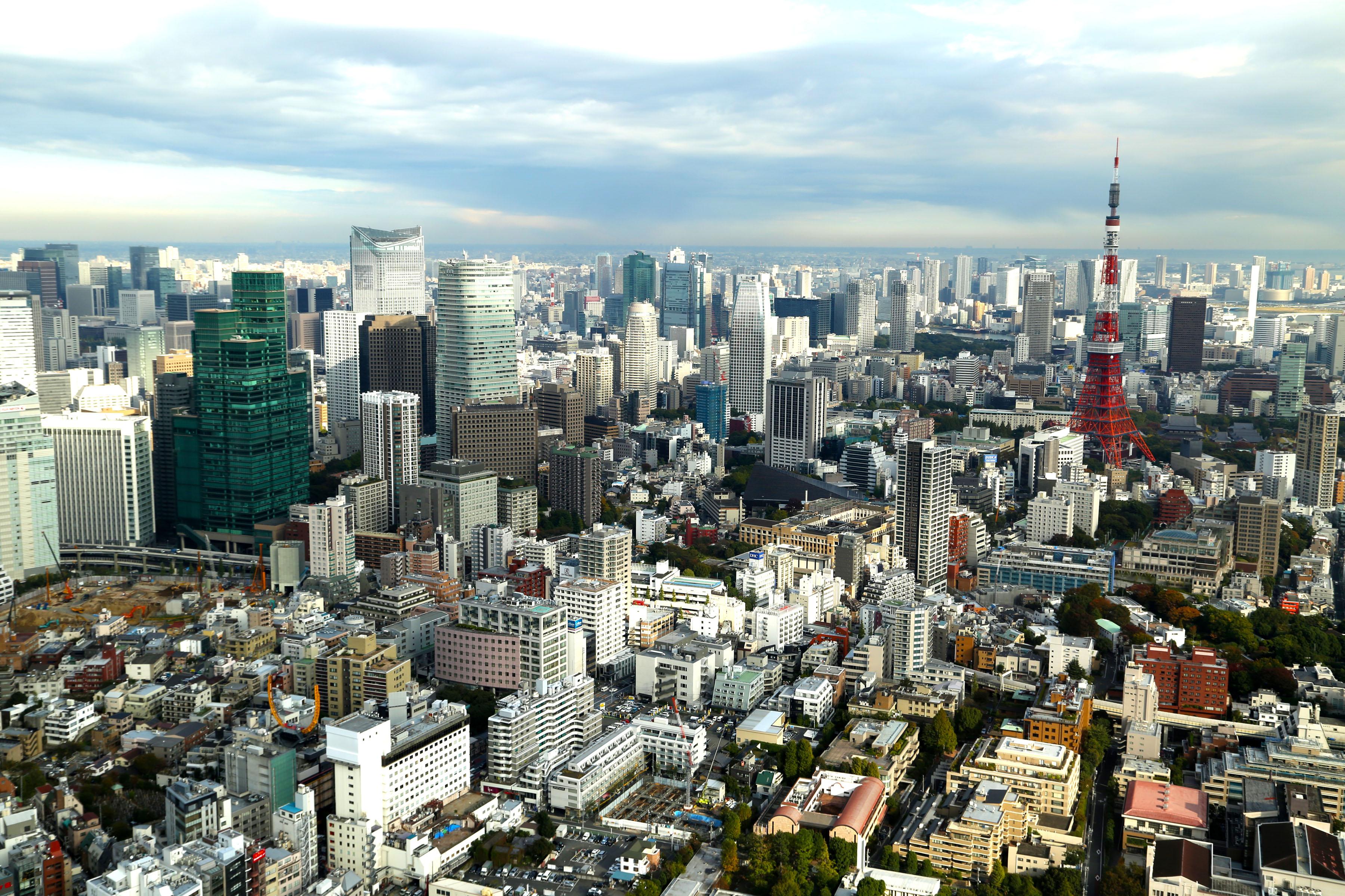 Tokyo Skyline from Mori Tower Roppongi Tokyo