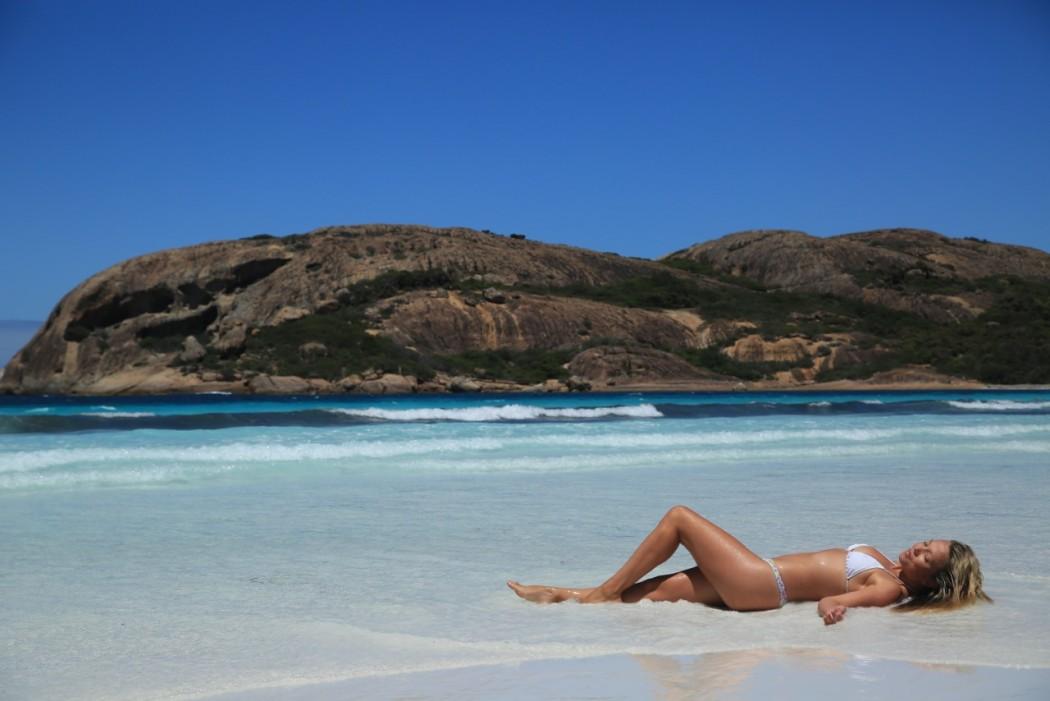 Girl bikini beach Australia