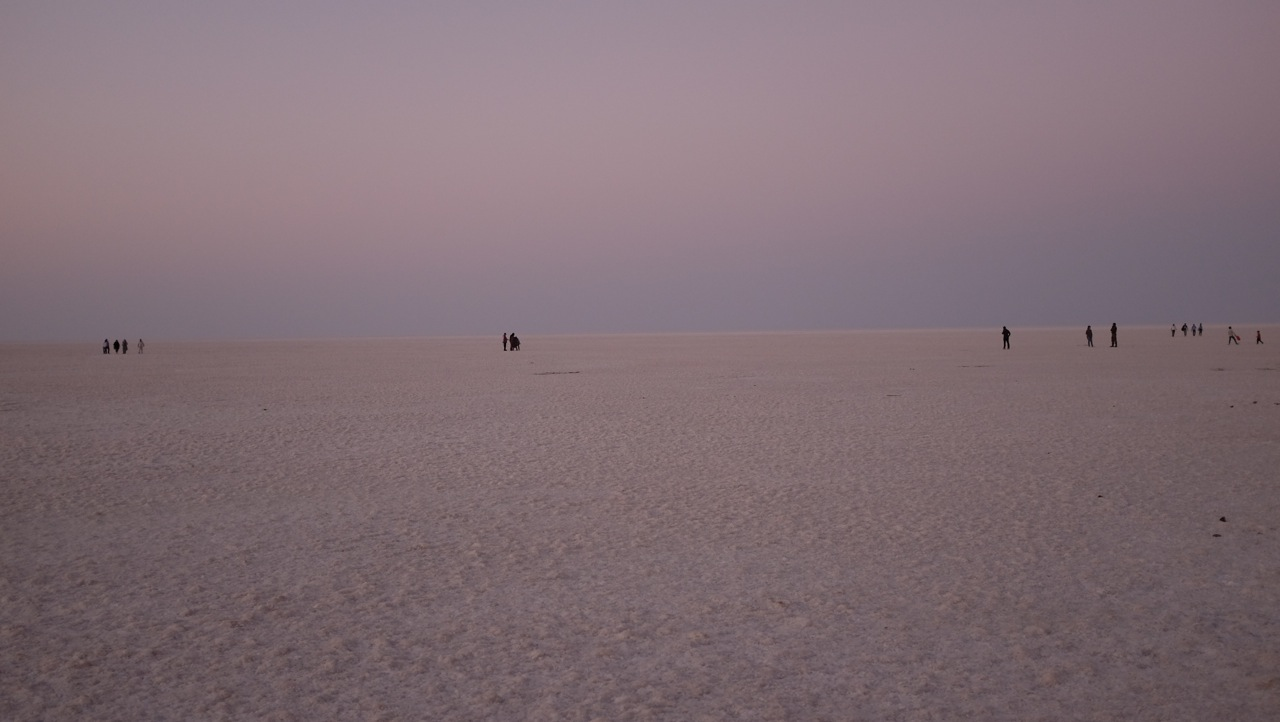 The salt flats at Great Rann of Kutch