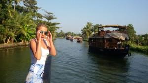 Houseboats backwaters Kerala India