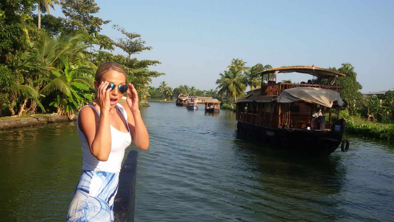 Houseboats backwaters Kerala India