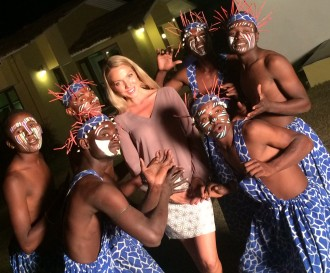 African Tribals perform at the Asiatic Lion Lodge Gir Forest Gujarat