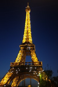 Eiffel Tower by night Paris, City of Lights