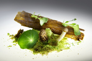Magic Mushrooms @ Gaggan Bangkok: Mushrooms in the shape of a log, Edible Soil
