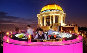 Sky Bar at night Lebua State Tower Bangkok