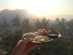 Heaven: Idli and Chai for Breakfast Hampi India