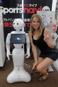 Tokyo travel with kids robots