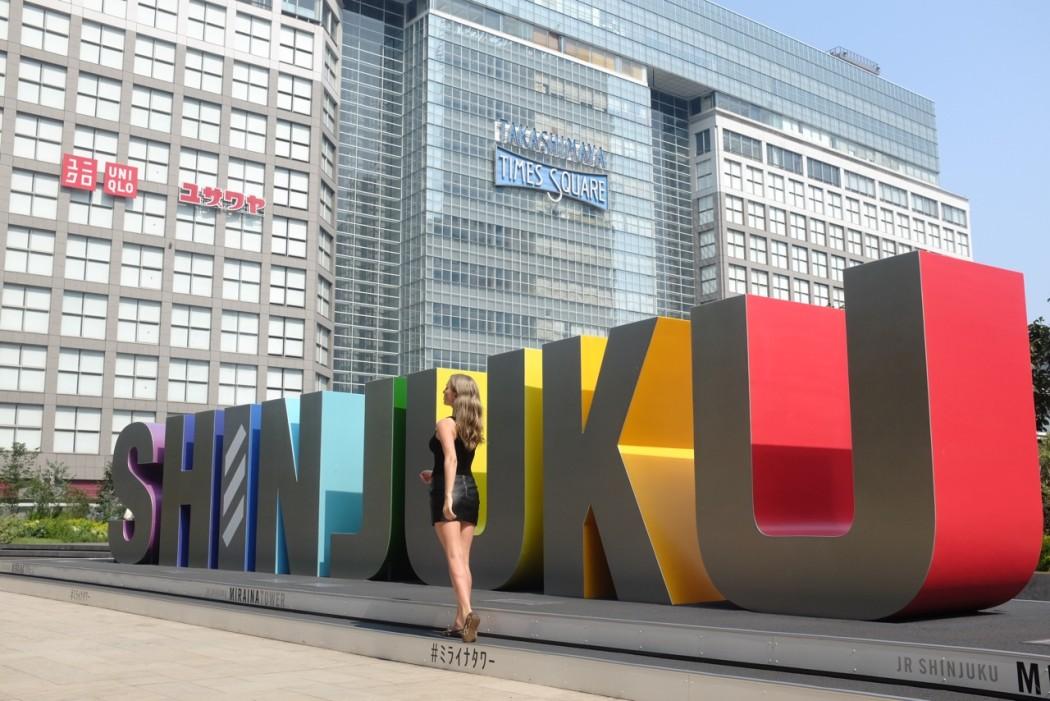 Travel blogger Sommer Shiels Shinjuku Station Tokyo Japan