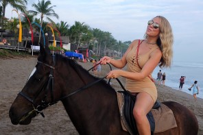 Beach horse riding Double Six Beach Bali