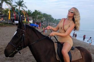 Beach horse riding Double Six Beach Bali