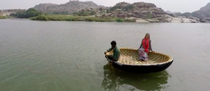 Corracle ride on the Tungabhadra River