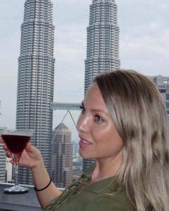 Petronas Towers view Sky Bar Kuala Lumpur